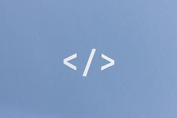 Tag Symbol aus der Programmierung