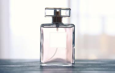 Image of elegant perfume bottle. back light photo Wall mural