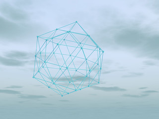 Modern abstract geometric art minimalistic background. 3d render