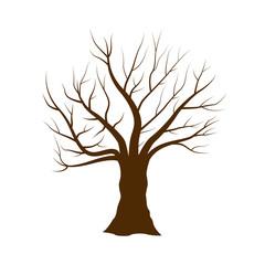 Tree vector illustration isolated on white background