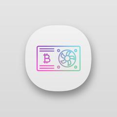 Bitcoin mining graphic card app icon