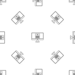 Tax by computer pattern seamless vector repeat geometric for any web design