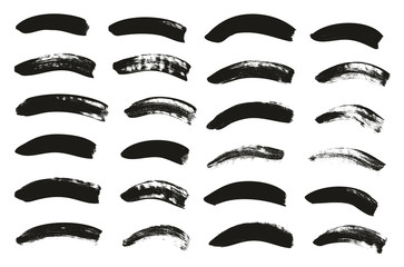 Calligraphy Paint Brush Curved Lines High Detail Abstract Vector Background Set 55