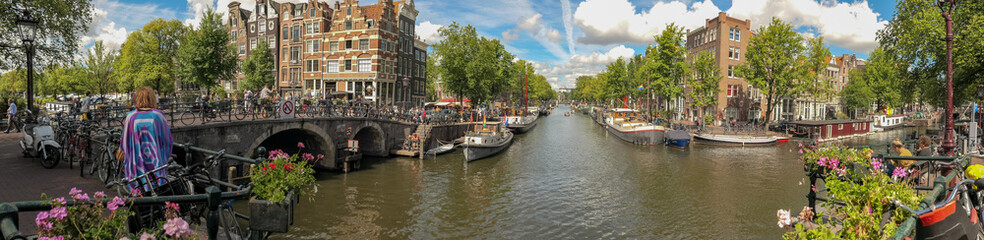 Amsterdam Panorama across the canals