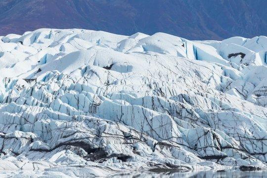 氷河の氷 Matanuska Glacier in alaska