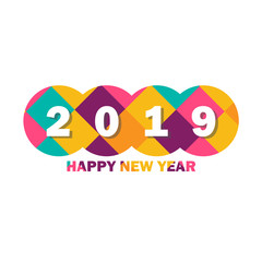 Happy holidays with vector 2019 Happy New year background
