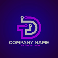 logo letter D and T 1
