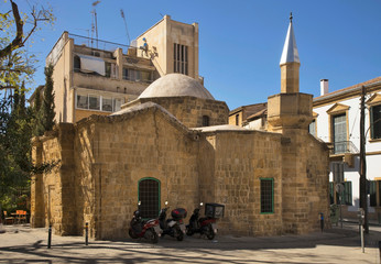 Arablar Mosque (Church of Stafros tou Missirikou) in Nicosia. Cyprus