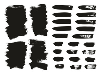 Calligraphy Paint Brush Background & Lines Mix High Detail Abstract Vector Background Set 118
