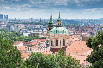 Cityscape of Prague with St. Nicholas Church