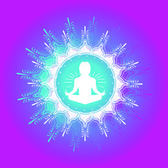 yoga namaster blend colorful apparel poster spiritual