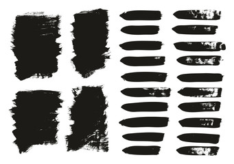 Calligraphy Paint Brush Background & Lines Mix High Detail Abstract Vector Background Set 40