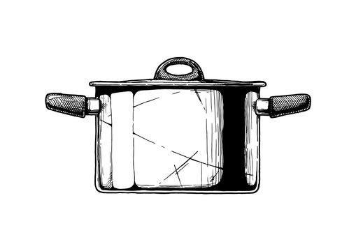 illustration of Stock pot