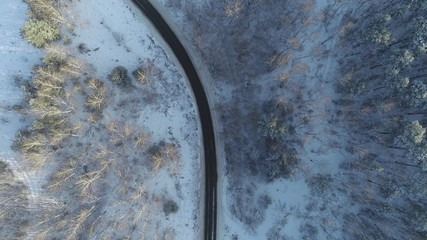 Wonderful winter landscape from above