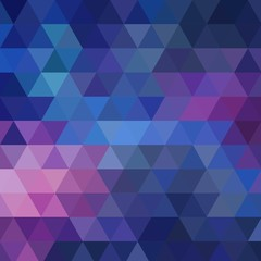 Abstract colorful vector background with triangles. Shiny geometric mosaic. Blue triangle pattern. eps 10