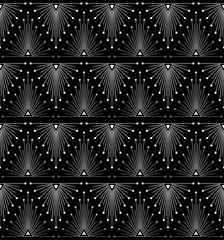 Gradient siver black linear seamless sacred geometry pattern. Sacral geometric occult cosmic line art signs for fabric prints, surface textures, cloth design, wrapping. EPS10 vector backdrop.