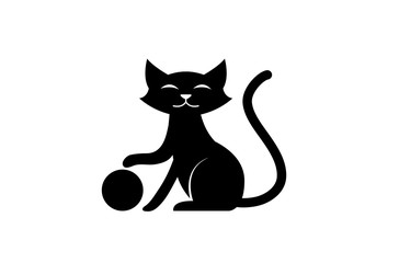 Black Cat Ball Logo