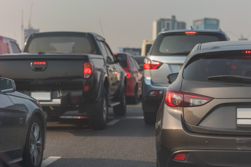 traffic jam on main street