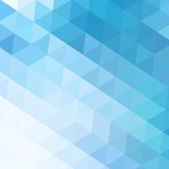 Blue Grid Mosaic Background, Creative Design Templates.