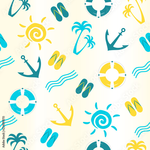 7f0d3af28 Vector seamless pattern with lifebuoy