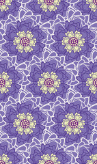 Spring Hope Purple, Yellow and Cream Florals