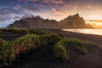 Vesturhorn in Summer, Iceland.