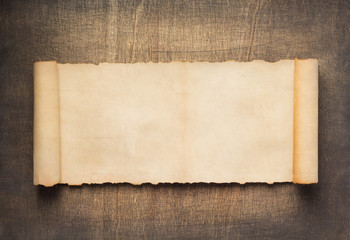 old retro aged paper parchment  at wood