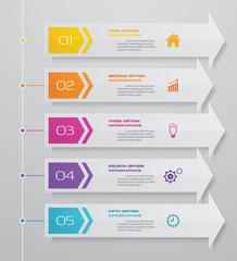 5 steps arrow infographics element template chart for presentation.
