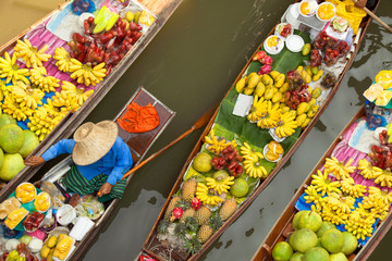 Photo sur Plexiglas Bangkok floating market thailand bangkok