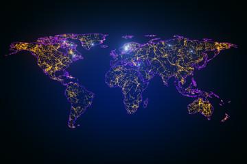 Creative digital map backdrop