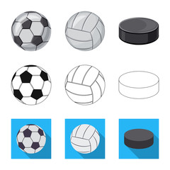 Vector illustration of sport and ball icon. Collection of sport and athletic vector icon for stock.