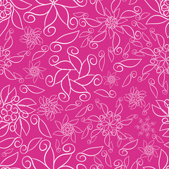 Pink Abstract Ornamental Florals