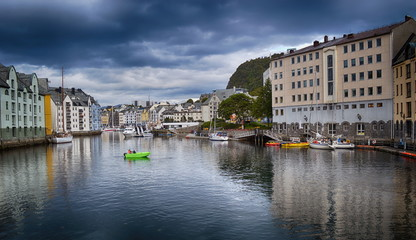 Fotomurales - Travel in Norway, View on Alesund town