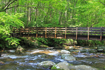Bridge over Pigeon River - Tennessee, Great Smoky Mountains National Park