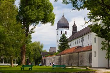 Klosterkirche auf der Fraueninsel, Chiemsee, Bayern