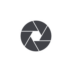 Vector shutter icon. Camera symbol isolated.  Interface button. Element for design mobile app or website