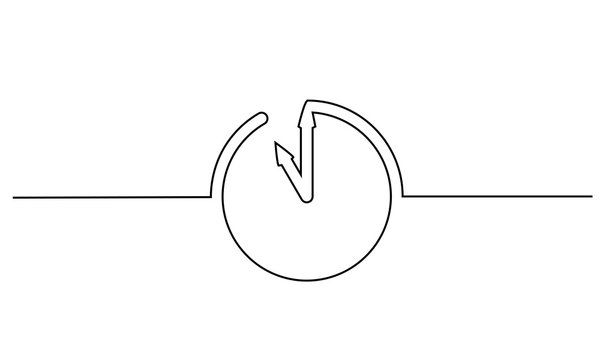 Clock with arrows icon on white background