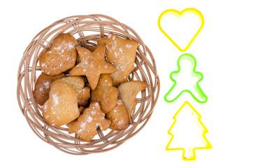 Homemade handmade baby gingerbread cookies