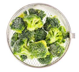 Frozen broccoli, vegetarian and diet food