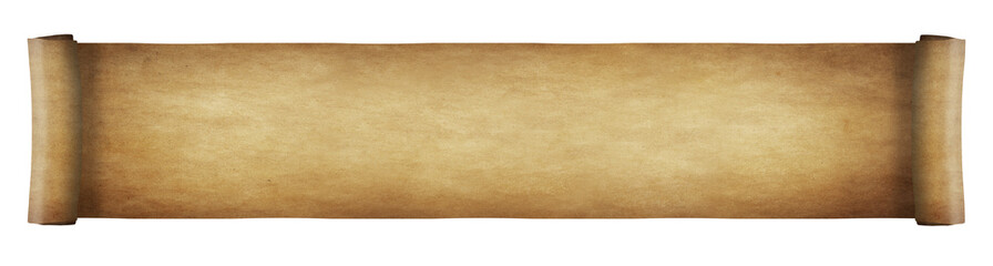 Aged paper scroll - long