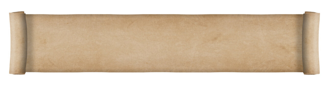 Old paper scroll - long