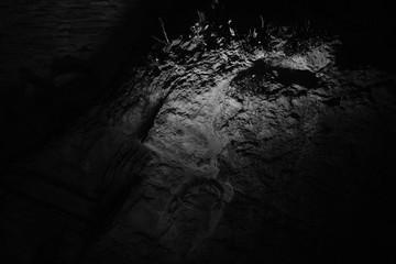 Rock night illuminated texture