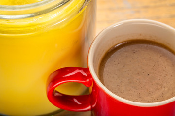 cup of fresh fatty coffee with ghee