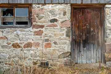 old door and window on a barn