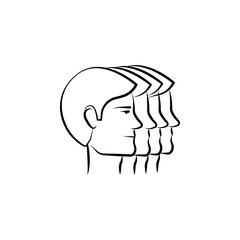 group, people, team hand drawn icon. Outline symbol design from business set