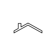 roofing contractor sign icon. Element of navigation sign icon. Thin line icon for website design and development, app development. Premium icon