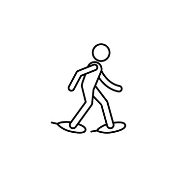 snow shoeing sign icon. Element of navigation sign icon. Thin line icon for website design and development, app development. Premium icon