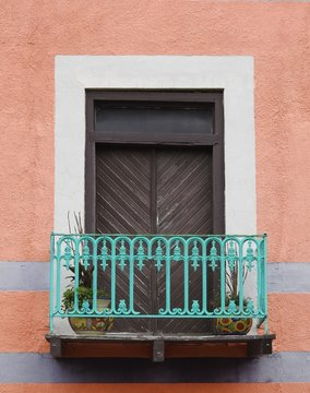 Balcony Window With Shutters