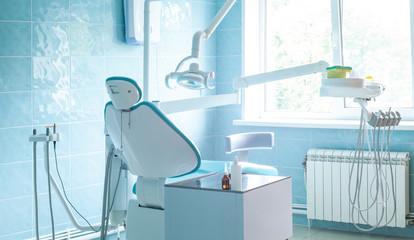 Stomatology cabinet equipment in interior modern  dental clinic