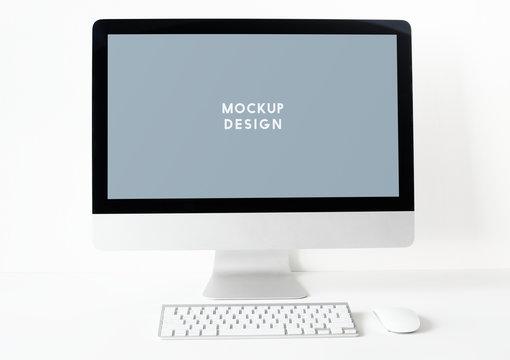 Computer monitor screen mockup template